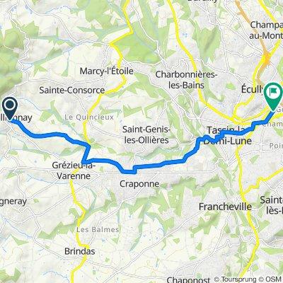 Grande Rue Jean-Pierre Dumortier, Pollionnay to 14bis Avenue de Grange Blanche, Tassin-la-Demi-Lune