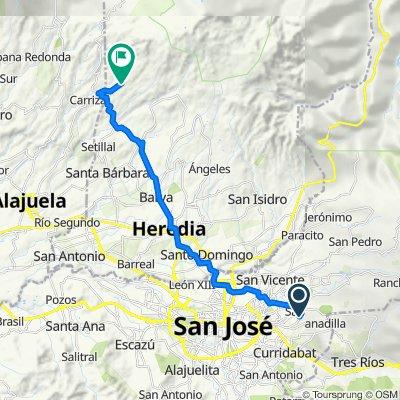De Sabanilla a Santa Bárbara de Heredia