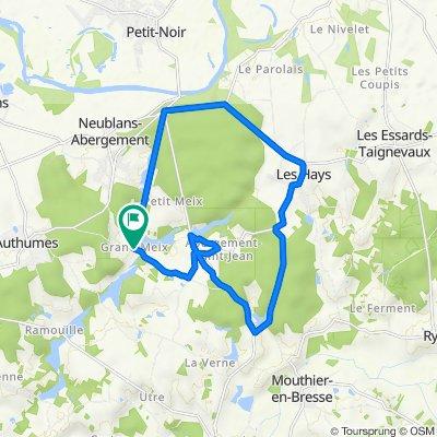 De Rue de la Forêt, Neublans-Abergement à Rue de la Forêt, Neublans-Abergement