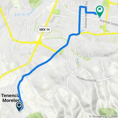 De Calle Colibrí 30, Morelos a Calle Gertrudis Bocanegra 1276, Morelia