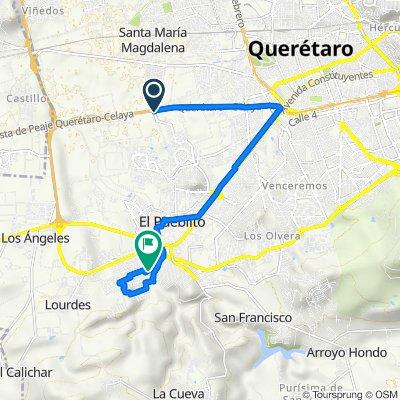 De Avenida Puerrta Real, Corregidora a Privada del Clavel 2–40, Corregidora