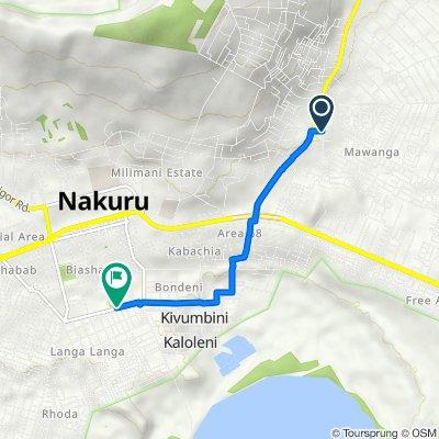 Solai Road, Nakuru to Moi Road, Nakuru