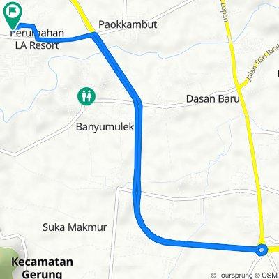 Jalan Dahlia IV 66, Kecamatan Labuapi to Jalan Dahlia IV 49, Kecamatan Labuapi