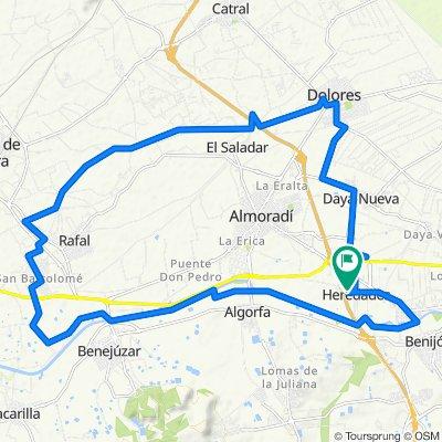 Calle del Goben, 3, Almoradí to Calle del Goben, 1, Almoradí