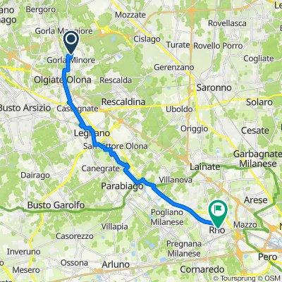 Da Via Venegoni 8, Gorla Minore a Piazza San Vittore 13, Rho