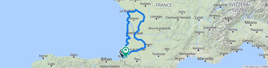 Francia costa atlantica e vigneti