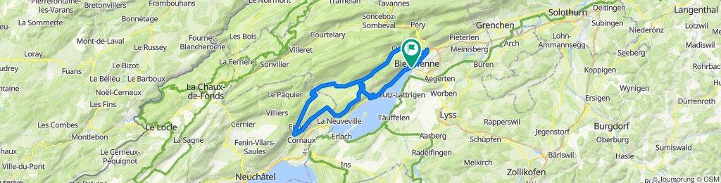 P-Biel/Twann/Lignieres/Enges/Nods/Orvin/Evilard (60km)