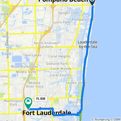 SE 1 St/A1A, Pompano Beach to Northwest 4th Street 1565, Fort Lauderdale