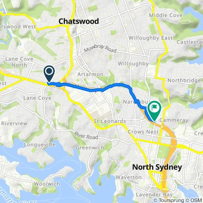 32 Kara Street, Lane Cove North to 274 West Street, Cammeray