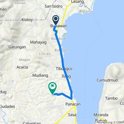 Barangay Bunawan Market Road 85, Davao City to Malagamot Road 196, Davao City