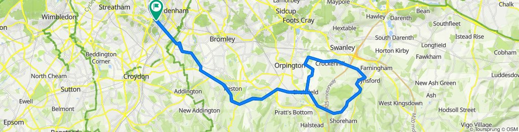 CP to Lullingstone Castle - 37miles