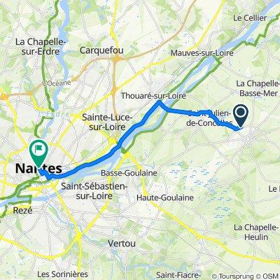De D115, Le Loroux-Bottereau à 40 Rue de Strasbourg, Nantes