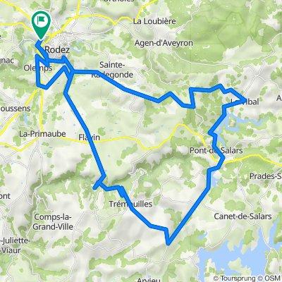 De Avenue Jean Monnet, Rodez à 17 Avenue Jean Monnet, Rodez