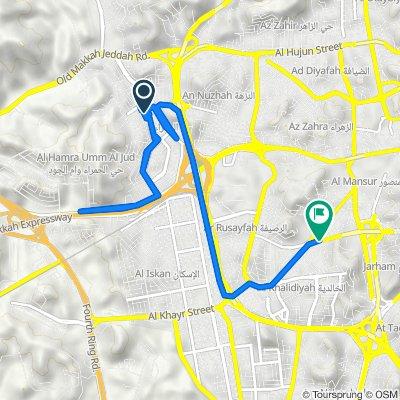 Route to 4189 طريق سيدنا عمر بن الخطاب, مكّة المكرمة