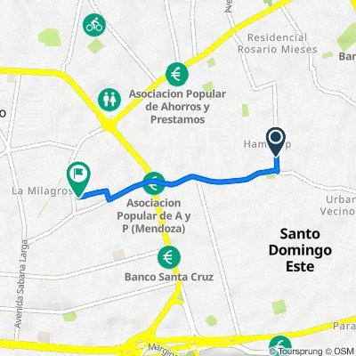 De Calle Manzana O 16, Santo Domingo Este a Calle 8-A 10, Santo Domingo Este
