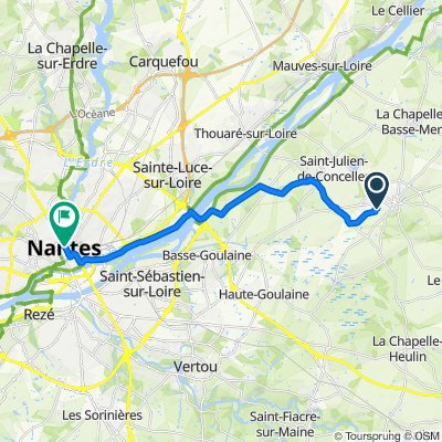 De 25 Rue Hector Berlioz, Le Loroux-Bottereau à 40 Rue de Strasbourg, Nantes