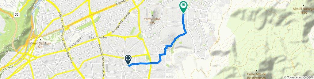 De Tezcuco 1198, Las Condes a Camino Otoñal 1397, Las Condes