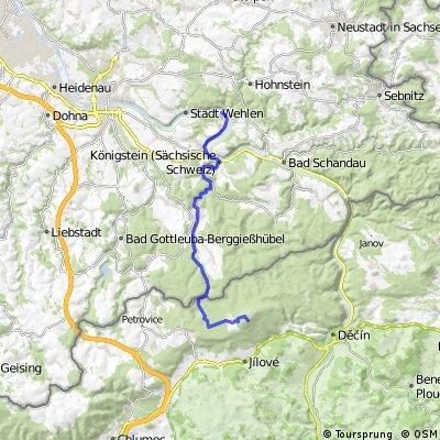 Kurort Rathen - Sneznik (Tschechien)