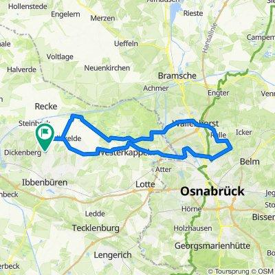 RTF 70km Piesberg-Rulle und zurück