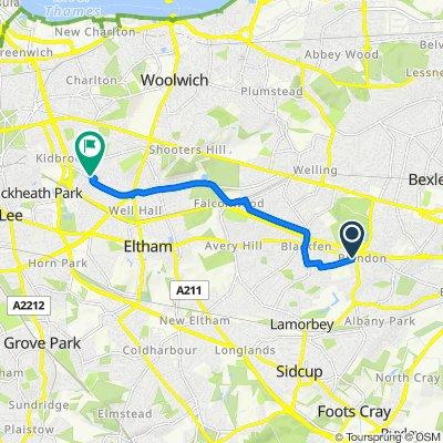 487-489 Blackfen Road, Sidcup to 11–15 Highbrook Road, London