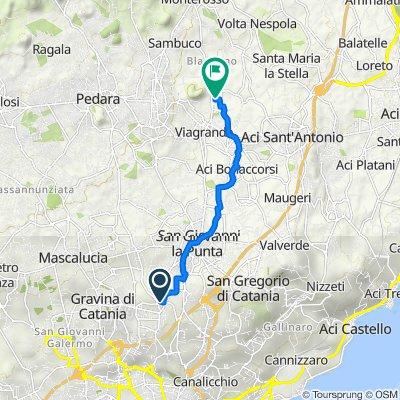 Da Via Giuseppe Garibaldi 1, Sant'Agata li Battiati a Via Leonardo da Vinci 9, Viagrande