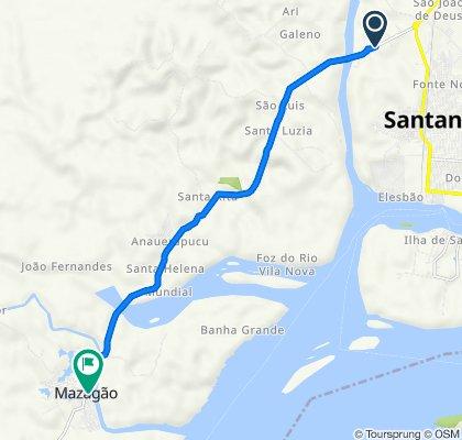 De Rodovia Macapa Mazagao 2490 a Rua Barão do Rio Branco 1099