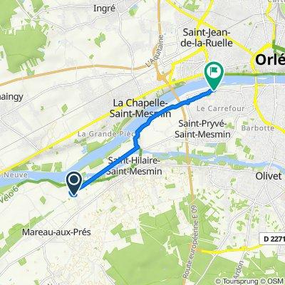 De 570 Rue de Fleury, Saint-Hilaire-Saint-Mesmin à Rue des Hautes Levées, Saint-Pryvé-Saint-Mesmin