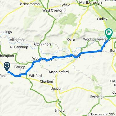 Route to Berwyn Cottage, Ram Alley, Marlborough