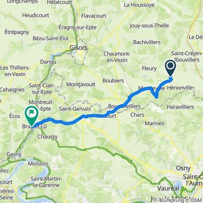 De Rue de l'Église 13, Ivry-le-Temple à Route de Vernon 2, Bray-et-Lû