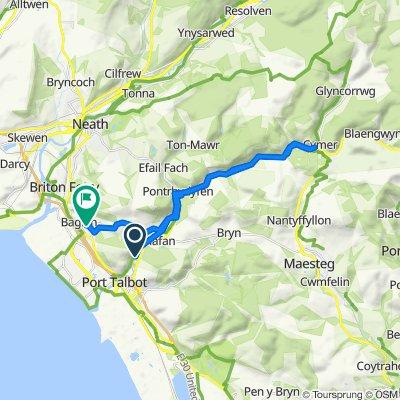 Ynys Park, Cwmavon Road, Port Talbot to 27 Fairwood Dr, Port Talbot