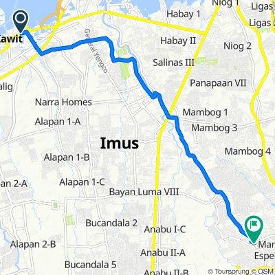 Manila-Cavite Road, Kawit to Balmori Street, Imus City