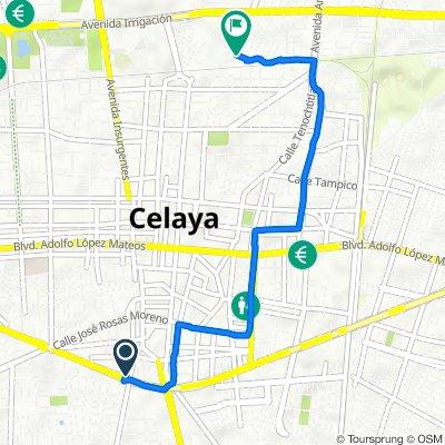 De Avenida Constituyentes 301B-S, Celaya a Paseo de La Alameda 140, Celaya
