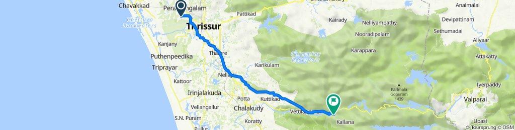Manidom Road, Adatt to Athirappilly Water Falls Road, Pariyaram