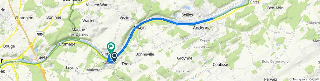 De Rue de Gramptinne 38, Andenne à Rue Joseph Evraud 54–59, Andenne