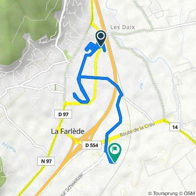 De 1 Rue Louis Corporandy, La Farlède à 233 Chemin de la Font des Fabre, La Farlède