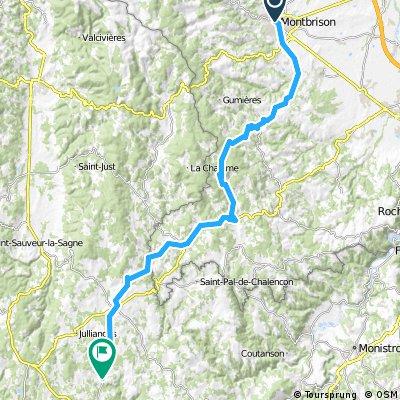 Toul Le-Puy Etappe 9 Montbrison Usson en Forez