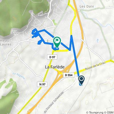 De 223 Chemin de la Font des Fabre, La Farlède à 29 Avenue du Général de Gaulle, La Farlède