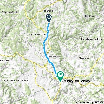 Toul Le-Puy Etappe 10 Usson-en-Forez Le-Puy-en-Velay