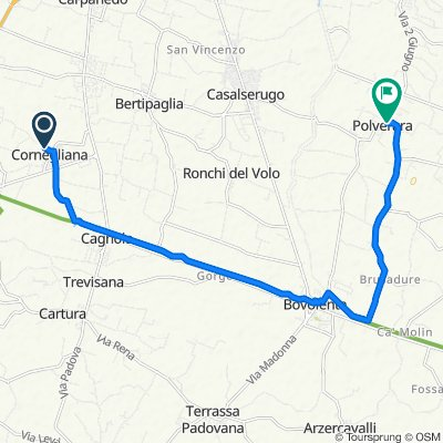 Da Via Palazzina 65, Due Carrare a Via San Fidenzio 14, Polverara