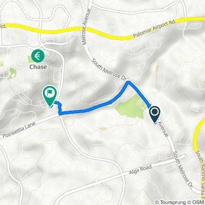 6369 Paseo Aspada, Carlsbad to 6412 Arches Way, Carlsbad
