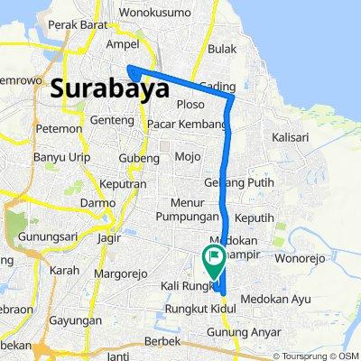 Jalan Baruk Barat V 38, Kecamatan Rungkut to Jalan Baruk Barat V 41, Kecamatan Rungkut