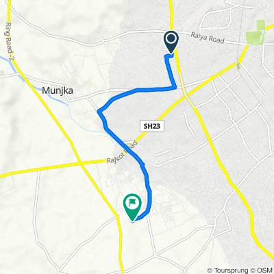 Route from Rajkot