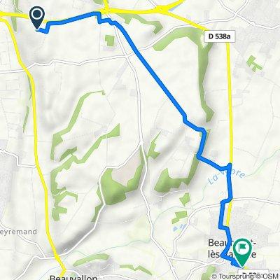De 478 Chemin des Baumes, Valence à 8–10 Ancien Chemin de Crest, Beaumont-lès-Valence