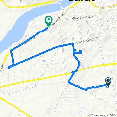 Route to Dumas Road, Surat