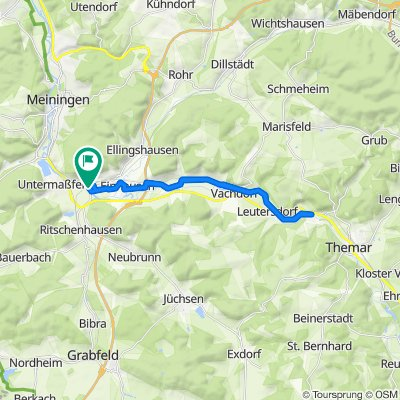 Werrastraße 14, Obermaßfeld-Grimmenthal nach Werrastraße 23, Obermaßfeld-Grimmenthal