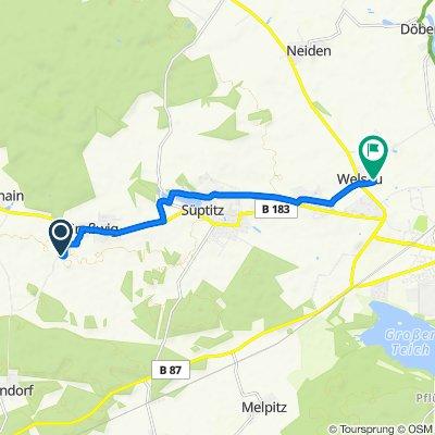 Niedermühle 6, Dreiheide nach Hohlweg 5C, Zinna