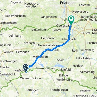 Am Mühlbach 11, Ehingen nach Elisenstraße 8, Nürnberg