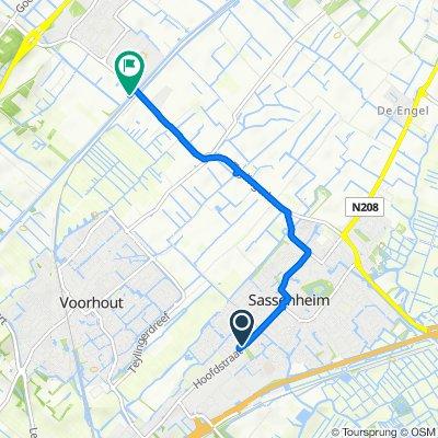 Arend 55, Sassenheim naar Leidsevaart 174, Noordwijkerhout