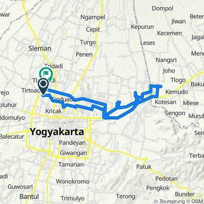 Jalan Kabupaten 123, Kecamatan Gamping to Unnamed Road, Kecamatan Gamping