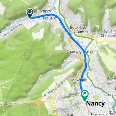 De 32–50 Rue de Normandie, Liverdun à 63 Rue de la Ravinelle, Nancy